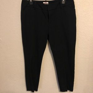 Black dress pants. Ankle length, fitted, stretchy!